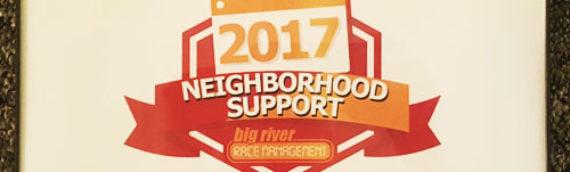 2017 Best Neighborhood Support Award